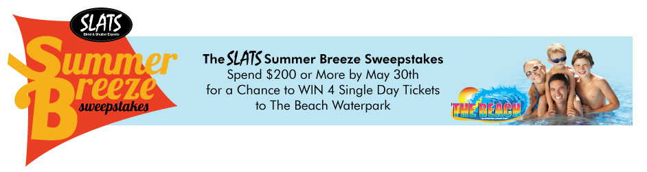 Slats Blinds The Beach SweepStakes
